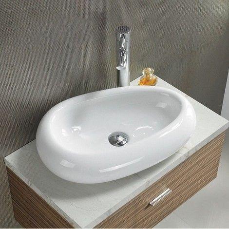 Vasque I Poser Ovale Galet Ci Ramique 55x38 Cm Origin 251218 Gls Vasque A Poser Vasque Vasque Design