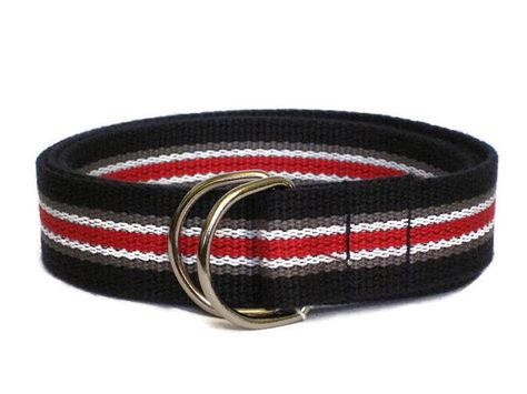 Boys Striped Belt School Uniform Belt Red White Blue