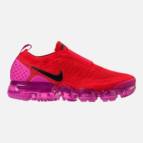 312dfb9c5e9 Right view of Women s Nike Air VaporMax Flyknit MOC 2 Running Shoes in University  Red Black Fuchsia Blast