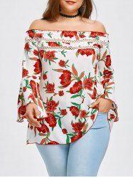 3f56fce7555 Plus Size Off Shoulder Allover Floral Blouse  FloralBlouse  PlusSize  Maxi   Loose  . Visit. March 2019