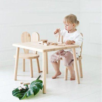 Möbelset Little Nomad 2 Stolar med Bord Natur | Barnmöbler