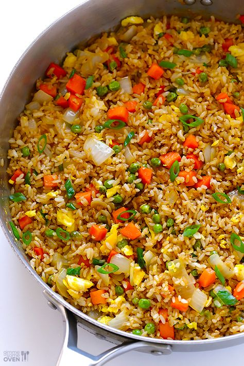 The Best Fried Rice! The Best Fried Rice! Learn how to make fried rice with this classic recipe. It only takes 15 minutes to make, it's ea. Vegetarian Recipes, Cooking Recipes, Healthy Recipes, Fried Rice Recipes, Best Fried Rice Recipe, Leftover Rice Recipes, Crockpot Recipes, How To Make Fried Rice Recipe, How To Flavor Rice