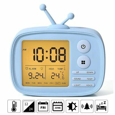 Cute Tv Shape Kids Alarm Clock Sound Activated Digital Clock Snooze Fashion Home Garden Homedcor Clocks Ebay Clock For Kids Kids Alarm Clock Alarm Clock