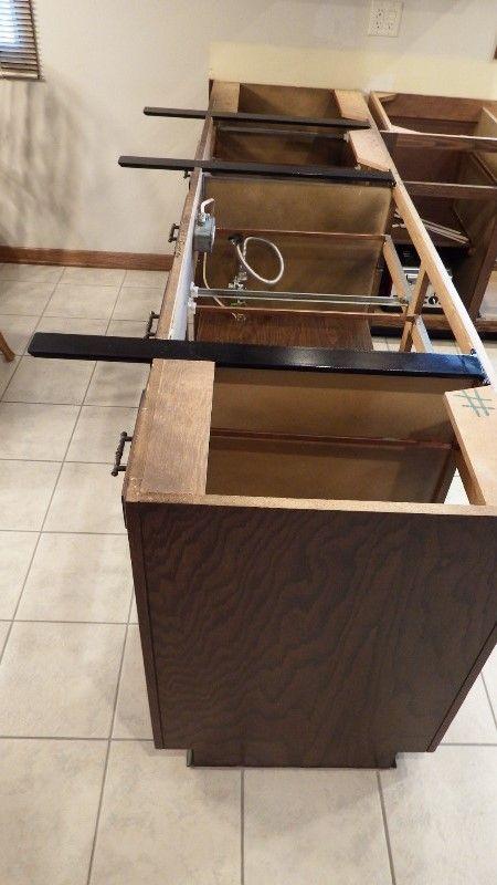 Hidden Island Support Bracket Updated Kitchen Countertops