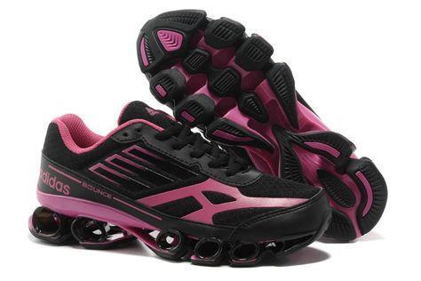 Adidas Bounce Five Star V5 Sort Pink Dame | Black running
