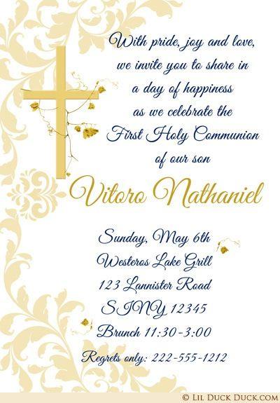 Lilduckduck Com Communion Invitations First Holy Communion Communion