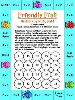 Multiplication Games No Prep Math With Images Multiplication