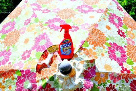 Learn how to clean a patio umbrella in just a few simple steps!   www.chaoticallycreative.com