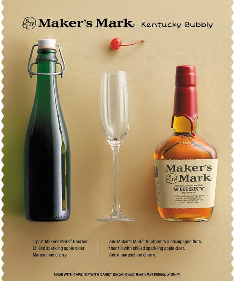A great cocktail for celebrations, the Kentucky Bubbly is simple to make and easy to drink. #Cocktail #Celebrate #NYE