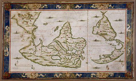 Planisphere desliens Mortier Poles Antique world by mapsandposters, $9.99