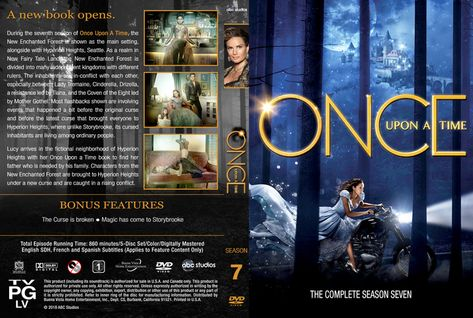 Once Upon A Time Season 7 2018 Dvd Custom Cover Frases Direito