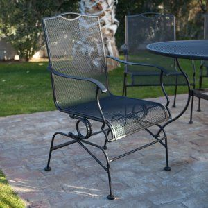 Belham Living Stanton Wrought Iron Coil Spring Dining Chair By