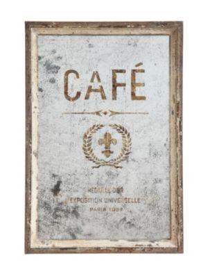 Antiqued Cafe Framed Mirror Wall Decor Online Cafe Wall Vintage Cafe