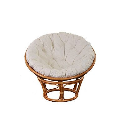fauteuil bambou et rotin papasan tissu