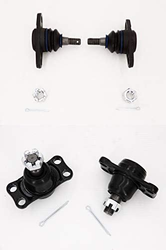 Aln Suspension 2 Front Lower Outer 2 Inner Ball Joint For Nissan