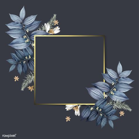 Download Premium Vector Of Empty Floral Frame Design Vector 520384 Frame Design Floral Background Colorful Backgrounds