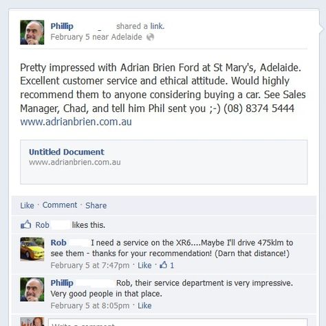 This monthu0027s featured customer review is courtesy of Phillip from - customer profile