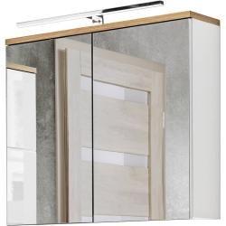 Badmobelset Mit 80cm Waschtisch Led Spiegelschrank Uton 56 In