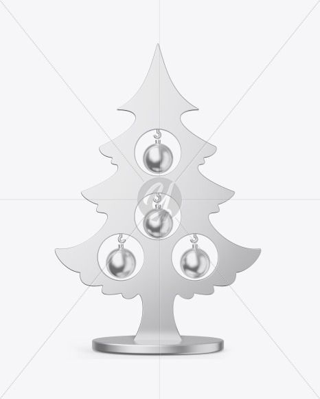 Metallic Christmas Tree Toy W Balls Mockup Present Your Design On This Mockup Includes Special La In 2021 Metal Christmas Tree Metallic Christmas Christmas Tree Toy