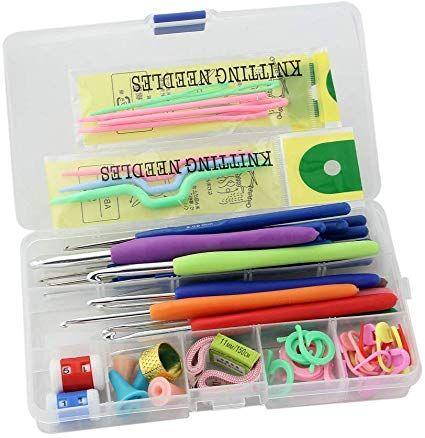 Jern Knitting Crochet Kit Knitting Crochet Kit Large Knitting Needle Kit Ergonomic Crochet Knitting Tools Accessories