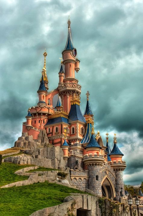 Sleeping Beauty Castle in Disneyland Resort Paris by David Tamayo