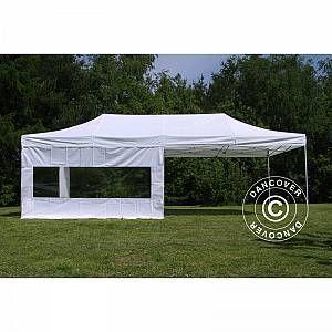 Dancover Pop Up Gazebo Flextents Pop Up Canopy Folding Tent Pro 4x8 M White Flame 4x8 Canopy Dancover Flame Flextent In 2020 Gazebo Canopy Outdoor Outdoor Awnings