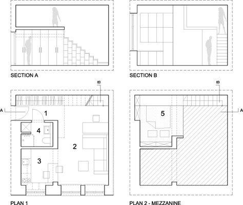 Mezzanine Plans 312ft2 apartment with a semi-mezzanine | mezzanine, apartments and