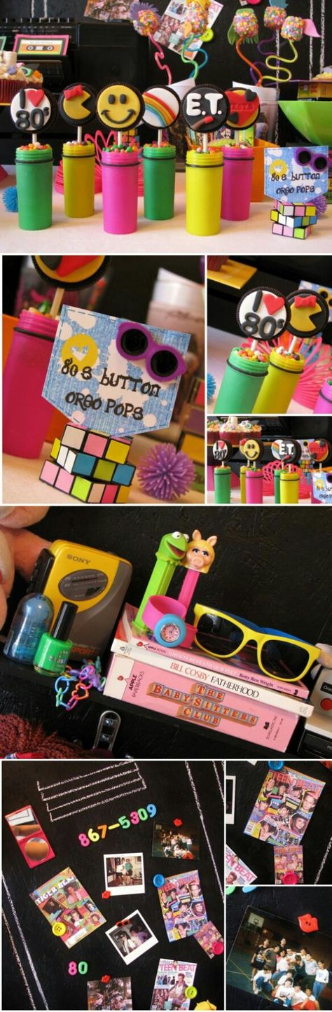 Birthday party idea for  the 80s