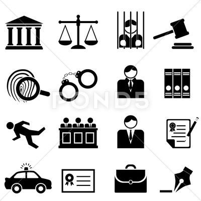 Legal Law And Justice Icons Stock Illustration Ad Justice Law Legal Illustration Law And Justice Business Icon Black And White Google