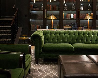 Green Velvet Chesterfield