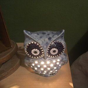 Ceramic Owl Light Owl Light Owl Decor Tabletop Owl Light Ceramic Light Animal Decor Owl Lover Gift Owl Decor Owl Gift Em 2020 Owl Abajur Coruja