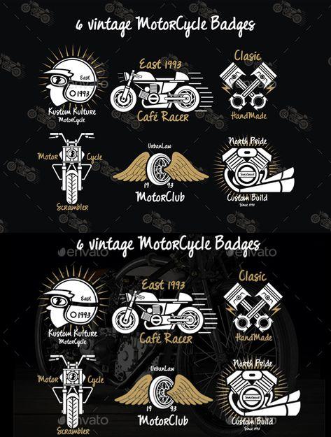 Motorcycle Vintage Badges