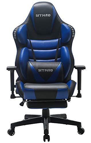 Sitmod Fauteuil Gaming Chaise Gamer Ergonomique 200kg Cuir Pu Fauteuil Racer Pro Inclinable Grand Dos Chaise De Bureau Broderie Lumin In 2020 Gaming Chair Chaise Chair