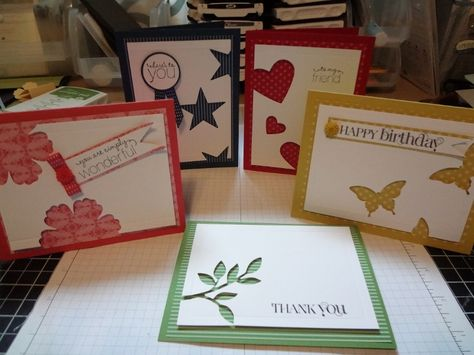 Negative space cards What a great idea for the negative cuts made from punches or Cricut cuts.