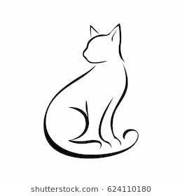 Cat Kreativitat Cat Kreativitat Katzen Tattoo Silhouette Katzentattoos Katze Malen
