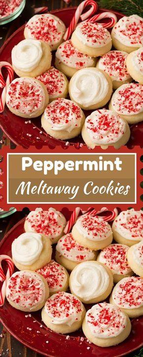 Peppermint Meltaway Cookies Cookies Easy Christmas Cookie