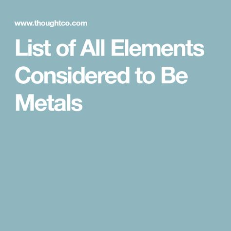 List of All the Elements That Are Metals Alkali metal - best of periodic table alkaline earth metals definition