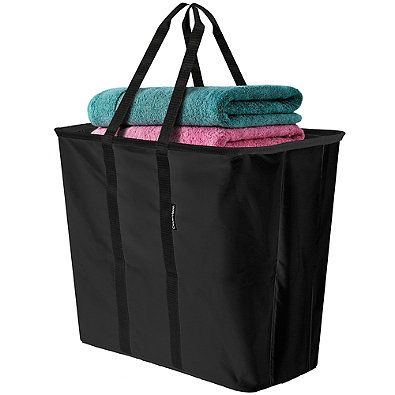 Clevermade Laundry Caddy In Black With Images Laundry Tote
