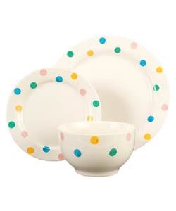 12 Piece Hand Painted Spotty Stoneware Dinner Set. | Kitchen | Pinterest | Stoneware dinner sets Dinner sets and Stoneware  sc 1 st  Pinterest & 12 Piece Hand Painted Spotty Stoneware Dinner Set. | Kitchen ...