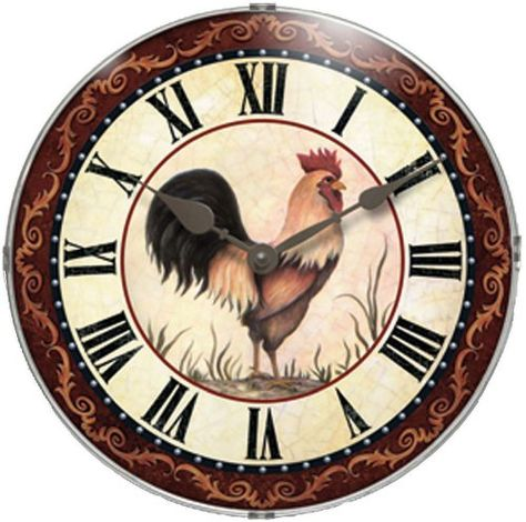rooster kitchen decor under $25 | chicken kitchen | pinterest | Часы