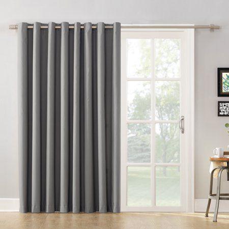 Jana Grommet Curtain Walmart Com Brown Curtains Grommet