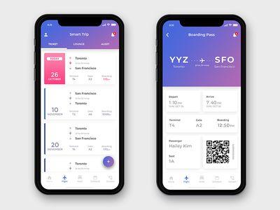 Iphone X Flight Concept Android Design Mobile App Design App