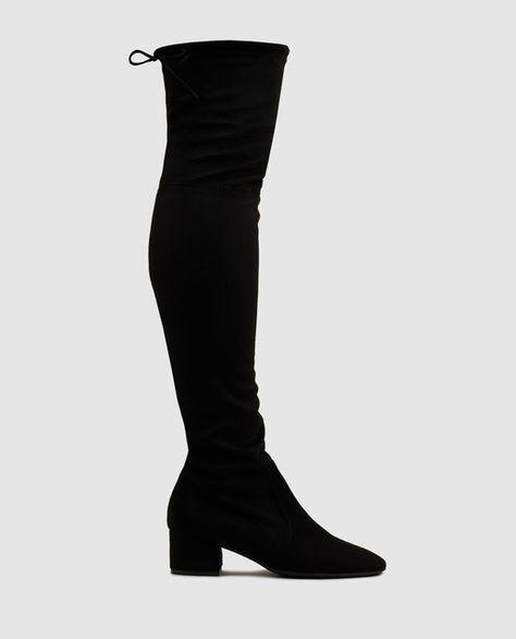 d7af492ef0bfa Botas XL de mujer Gloria Ortiz con caña elásticas de color negro ...