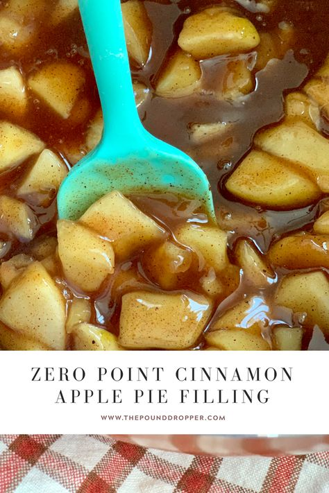 This Zero Point Cinnamon Apple Pie Filling is simple to make and has no added sugar Made with Lakanto s Monkfruit Sweetener Dessert Weight Watchers, Plats Weight Watchers, Weight Watchers Meals, Weight Watchers Apple Recipes, Weigh Watchers, Apple Pie Recipes, Ww Recipes, Ww Apple Pie Recipe, Apple Chips