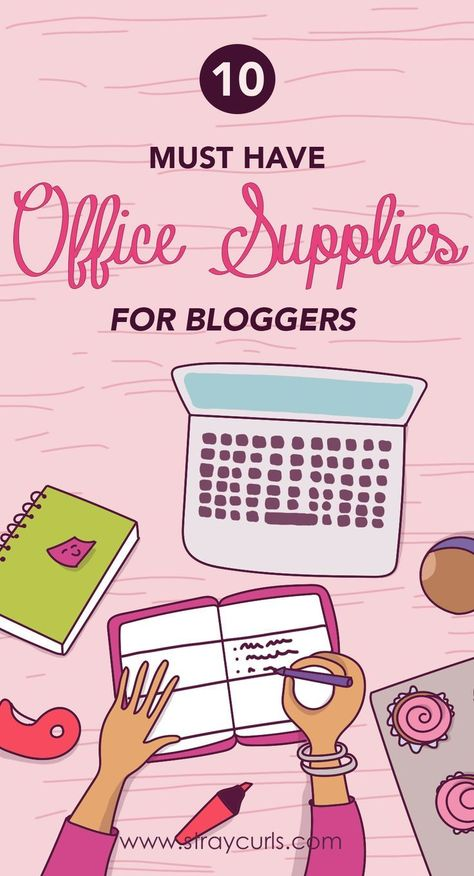 10 Must-Have Office Supplies for Bloggers   Mary Angela
