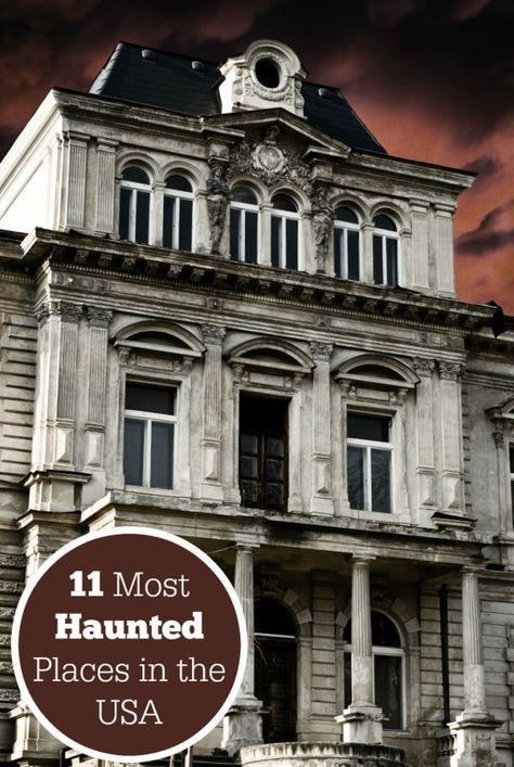Halloween will be upon us before you know it. If you're planning to get away this October, why not tour one of these 11 Most Haunted Places in the USA - would you dare to visit any of these spots? Places In America, Places Around The World, The Places Youll Go, Places To Visit, Around The Worlds, Haunted Hotel, Real Haunted Houses, Haunted Towns, Most Haunted Places