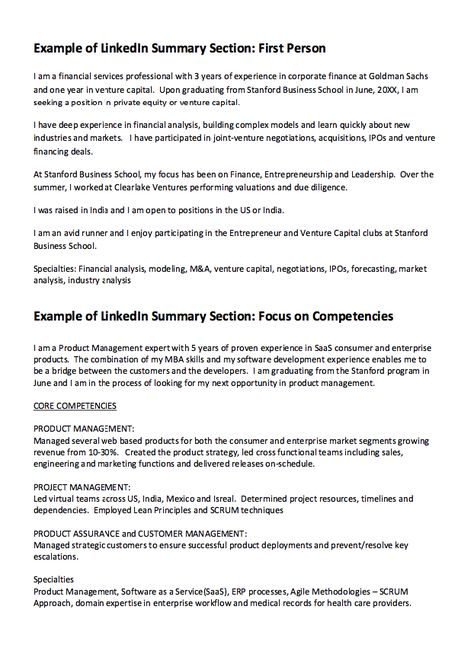linkedIn Summary Resume Example -    resumesdesign - actuarial resume example