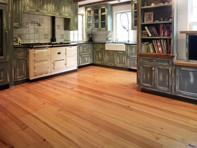 Very sleek looking flooring done with antique pine wide planks.