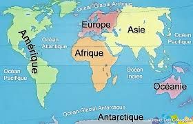 Cartes Des Continents Et Oceans Recherche Google Continents Et Oceans Carte Des Continents Les Continents