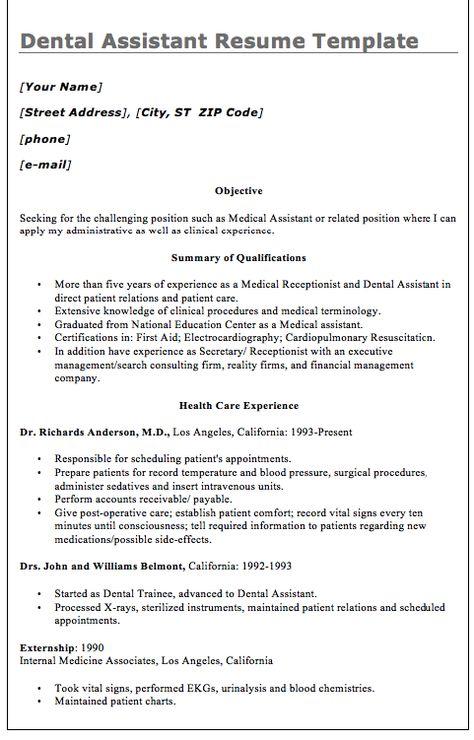 MACROBUTTON DoFieldClick Your Name MACROBUTTON DoFieldClick - dental assistant sample resume